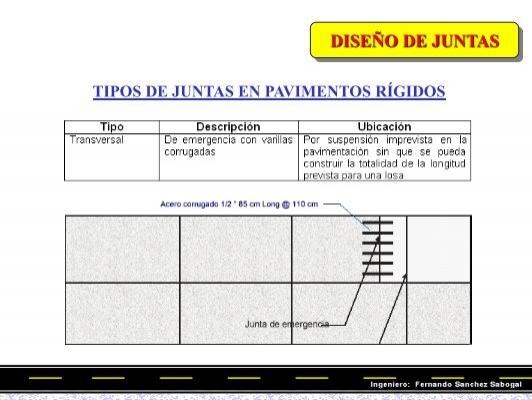 DISEÑO DE JUNTAS TIPOS D