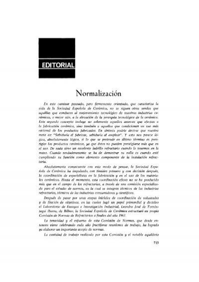 N Ormalizacion Boletines Sociedad De Cerámica Y Vidrio