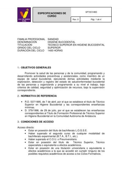 Higiene Bucodental Ies Los Viveros