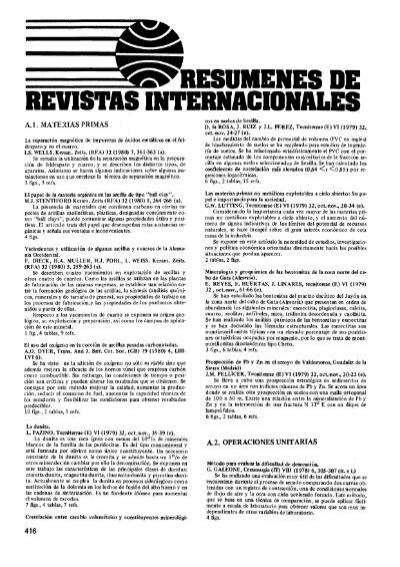 Revistas Internacionales Boletines Sociedad De Cerámica Y Vidrio