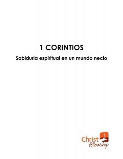 1 Corintios Christ Fellowship En Espanol