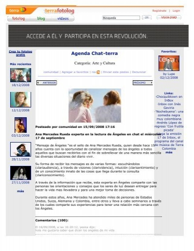 Inicios del Latin Chat en Starmedia