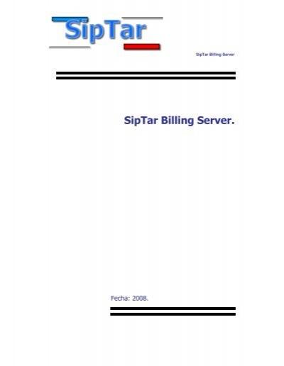 siptar billing server