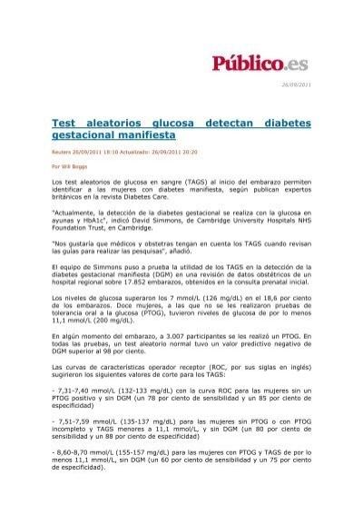 prueba de diabetes gestacional en ayunas nhs