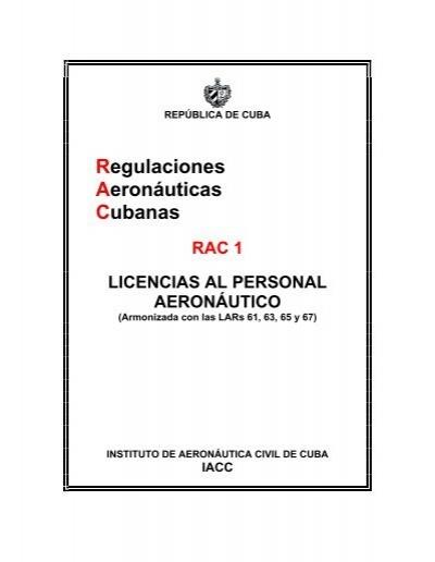 Regulaciones Aeronáuticas Cubanas - Instituto de Aeronáutica Civil ...