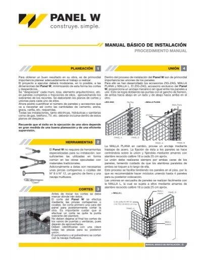 manual b sico de instalaci n panel w