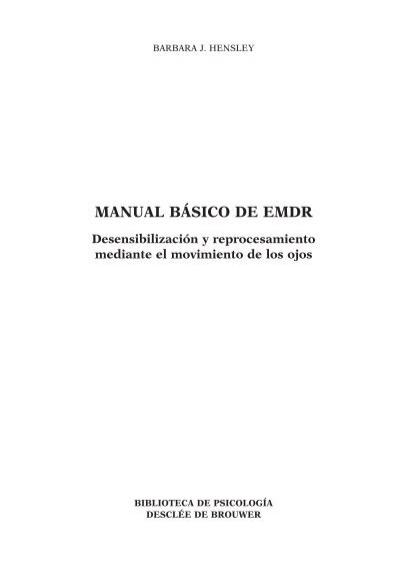 manual b sico de emdr tx indd descl e de brouwer rh yumpu com manual basico de emdr Plan Basico