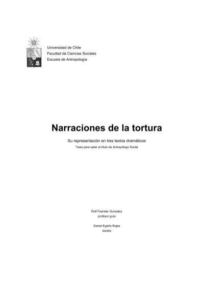 Ralf Cantando En El Bano.Narraciones De La Tortura Tesis Electronicas Universidad