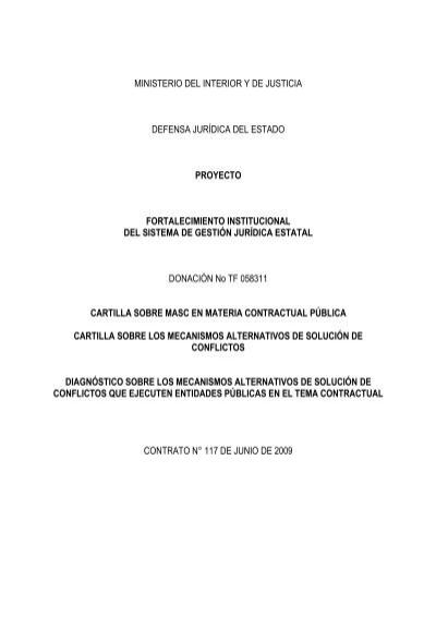 Cartilla contrataci n estatal ministerio del interior y for Ministerio del interior y de justicia
