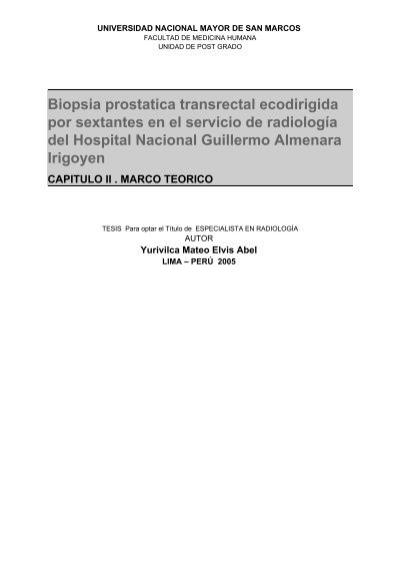 biopsia prostática transrectal ecodirigida