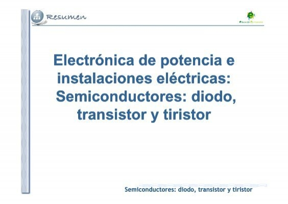 Resumen de semiconductores