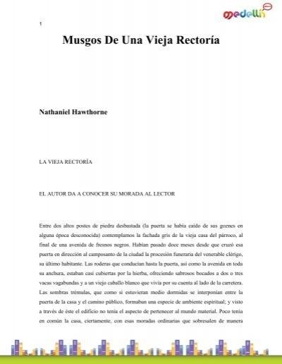 Hawthorne Nathaniel Musgos De Una Vieja Rectoria