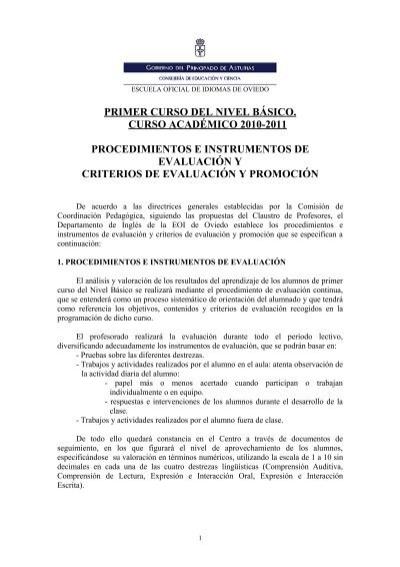 Primer curso del nivel b sico escuela oficial de idiomas - Escuela oficial de idiomas inca ...