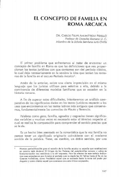 El concepto de familia en roma arcaica for Concepto de familia pdf