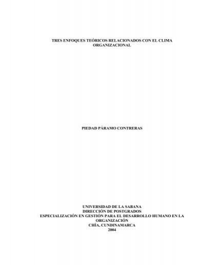 Tres Enfoques Teóricos Relacionados Con El Clima
