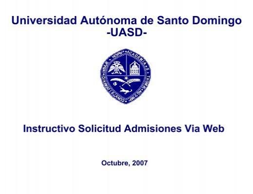 Hacer cita via web para entrega de documentos uasd