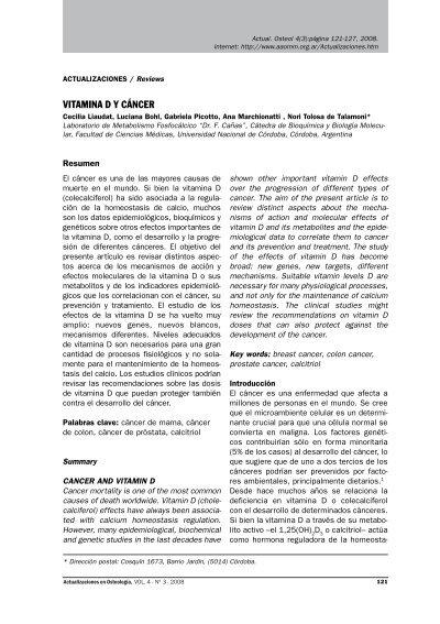 vitamina d y cancer de prostata