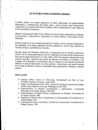 Juan fernando londo o osorio ministerio del interior y for Ministerio popular de interior y justicia