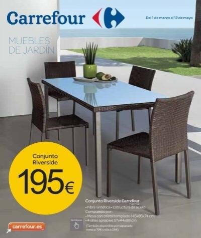 Muebles de jard n for Carrefour muebles jardin