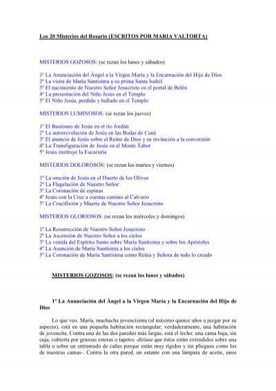 20 Misterios Del Rosario Revelaciones Marianas Los CBrdxeWo