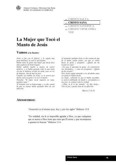 La Mujer que Tocó el Manto de Jesús