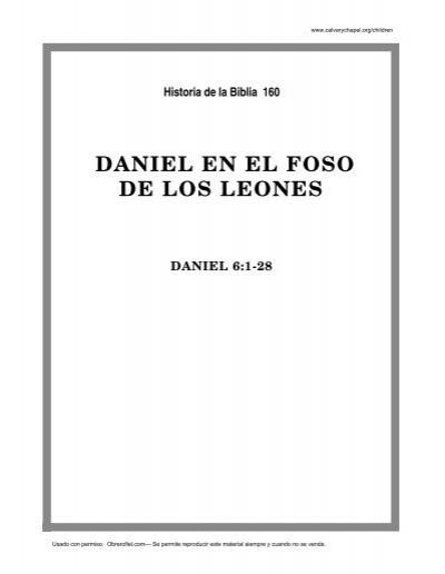 Único Daniel Y Los Leones Den Las Hojas De Trabajo Colección - hojas ...
