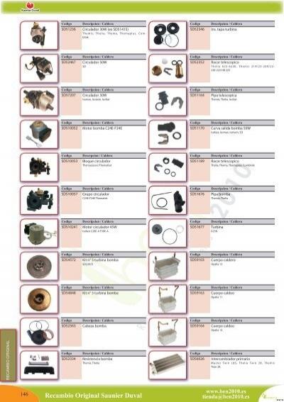 Recambio original saunier duval ben2010 for Repuestos calderas roca madrid