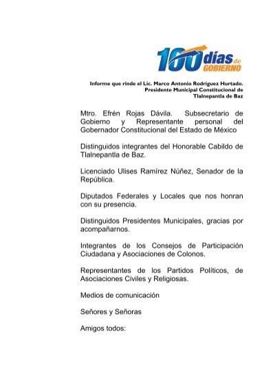 Mtro Efrén Rojas Dávila Subsecretario De Gobierno Y