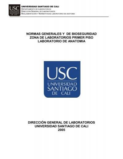 Normas Generales y de Bioseguridad Laboratorio de Anatomía