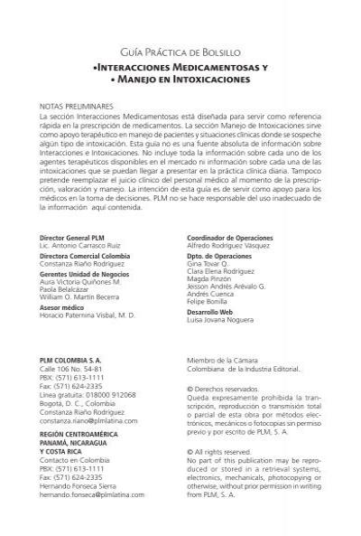 Interacciones Medicamentosas 2012 Indd Dromayor