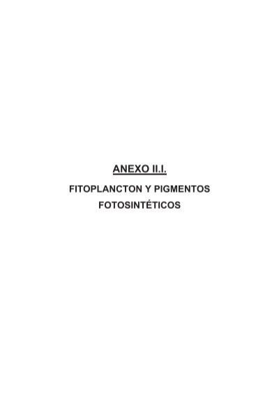 Pigmentos fotosinteticos del fitoplancton 68
