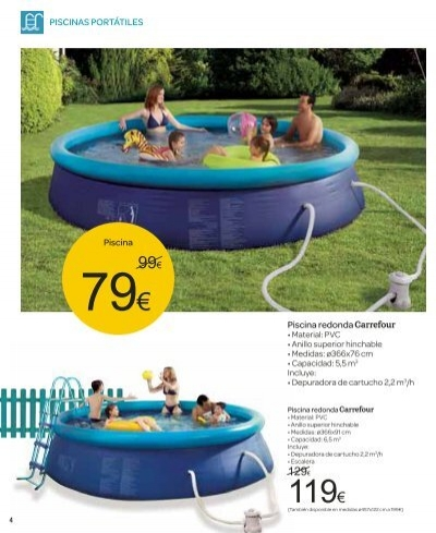 4 piscinas port tiles pi for Carrefour piscina hinchable