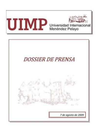 7 De Agosto De 2009 Universidad Internacional Menéndez Pelayo