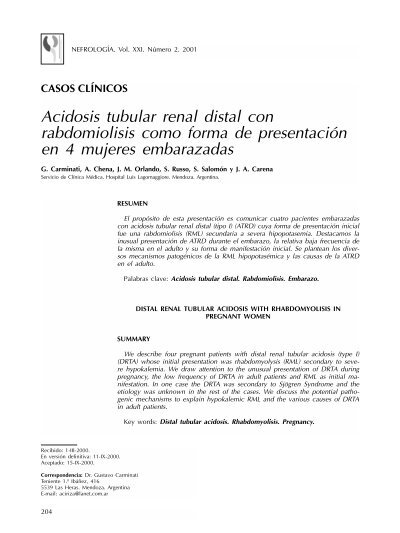 renal tubular acidosis review pdf