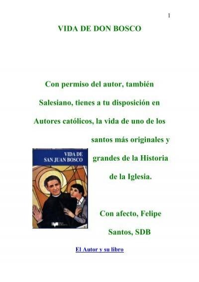 Vida De Don Bosco Autores Catolicos