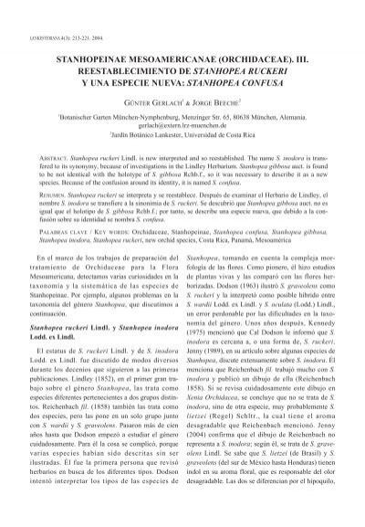 Stanhopea Confusa Lankesteriana Universidad De Costa Rica