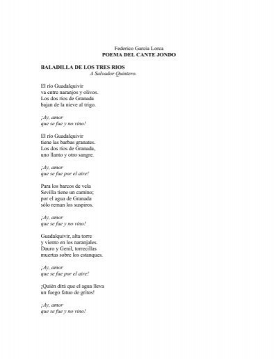 Garcia Lorca Federico Poema Del Cante Jondopdf