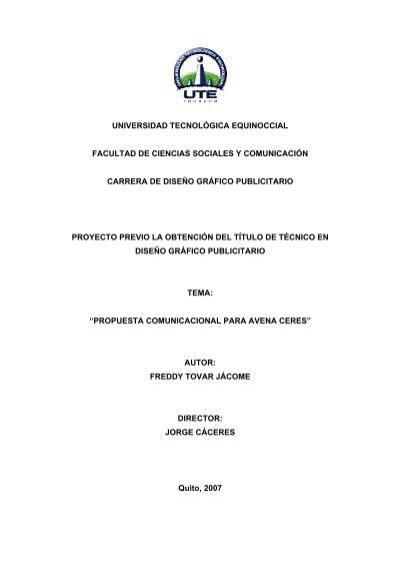 Universidad tecnol gica equinoccial facultad de ciencias for Diseno publicitario pdf