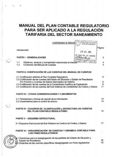 Manual Del Plan Contable Regulatorio Para Ser Aplicado A