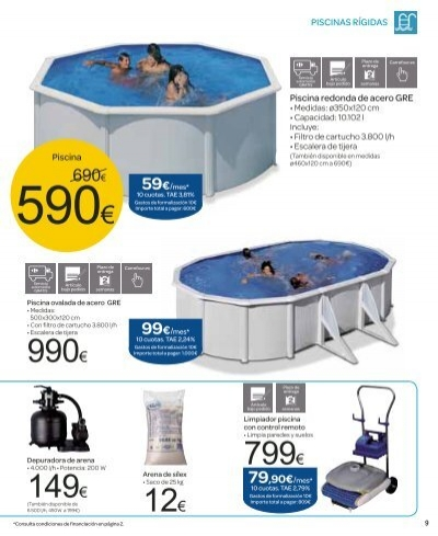 8 piscinas r gidas pisci for Piscinas gre carrefour