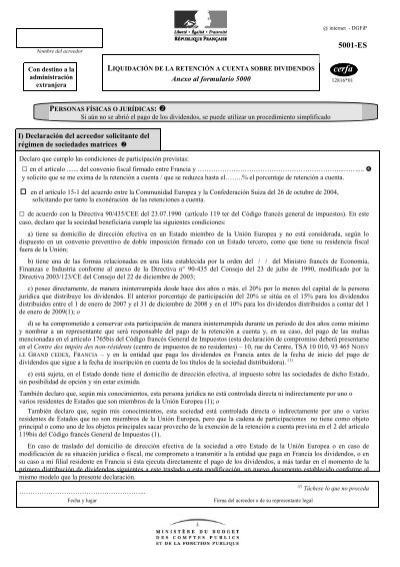 dirección impots des no residentes 10 rue du centre tsa