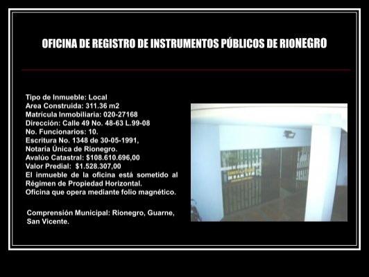oficina de registro de in