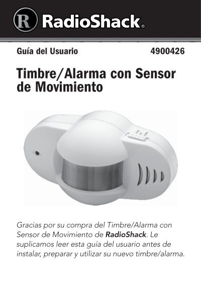 Timbre alarma con sensor de movimiento radio shack for Sensor de movimiento con alarma