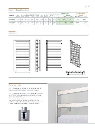 Alias radiador toallero m for Precio radiador toallero