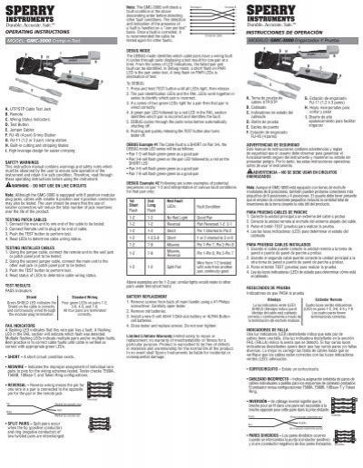 operating instructions model  gmc