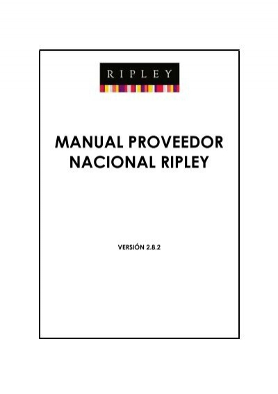 2c0cd56a7125 Manual Prov Nac_v2.8.2 - Portal Proveedores ripley b2b - Ripley