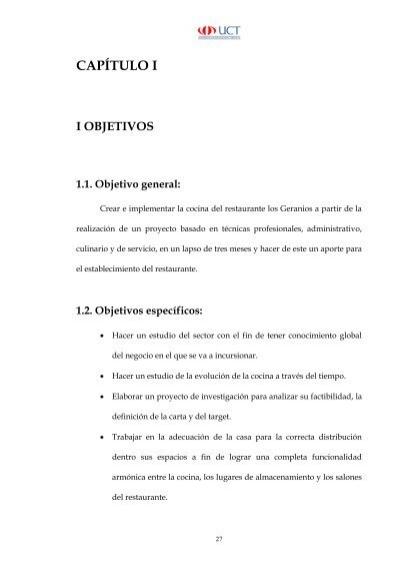 Creacion de la cocina del restaurante los geranios for Proyecto restaurante pdf