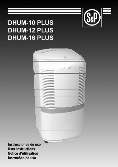 Deshumidificador DHUM-12 E con capacidad de 12 litros Soler y Palau