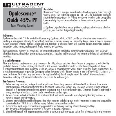 Opalescence Quick 45 Pf Ultradent Products Inc