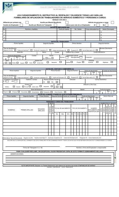 Formulario Inscripcion Empleadas Domesticas Caja De